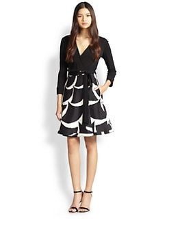 Diane von Furstenberg - Amelia Printed-Skirt Wrap Dress