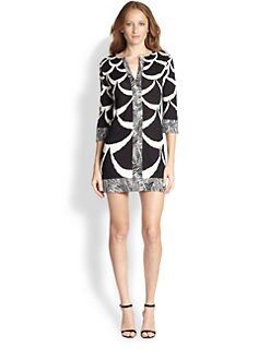 Diane von Furstenberg - Dual-Print Shift Dress