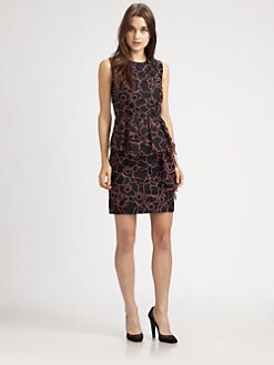 Diane von Furstenberg - Leni Interlaced Peplum Dress