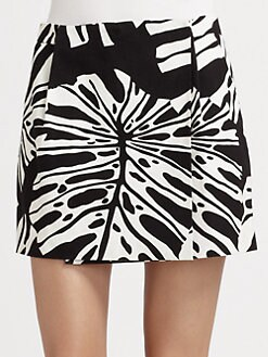 Diane von Furstenberg - Melissa Printed Cotton Mini Skirt