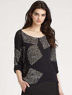 Diane von Furstenberg - Zita Squares Intarsia Sweater
