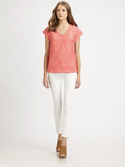 Diane von Furstenberg - Acedia Pebble Lace Top