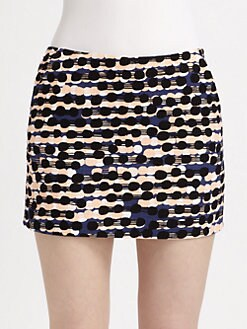 Diane von Furstenberg - Nelly Printed Tweed Mini Skirt