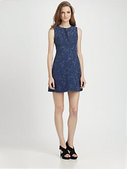 Diane von Furstenberg - Yvette Painted Tweed Dress