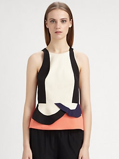 Diane von Furstenberg - Eon Peplum Top