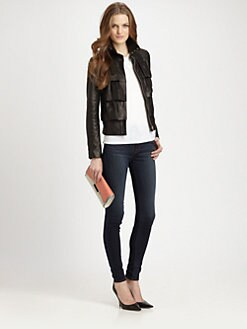 Diane von Furstenberg - Cupcake Leather Bomber Jacket
