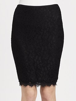 Diane von Furstenberg - Scotia Lace Pencil Skirt