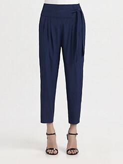 Diane von Furstenberg - Keaka Pleated Silk Capri Pants