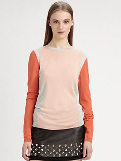 Diane von Furstenberg - Cashmere Colorblocked Sweater