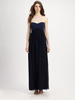 Diane von Furstenberg - Asti Silk Colorblock Maxi Dress
