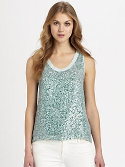 Diane von Furstenberg - Emilia Sequin Racerback Top