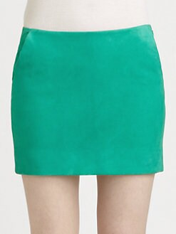 Diane von Furstenberg - Jay Suede Mini Skirt