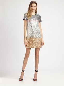 Diane von Furstenberg - Barbie Embellished Silk Dress