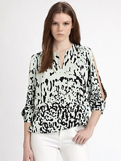 Diane von Furstenberg - Astor Print Silk Jersey Blouse