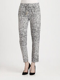 Diane von Furstenberg - Benett Printed Silk Pants