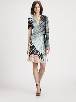 Diane von Furstenberg - Valencia Printed Silk-Jersey Wrap Dress