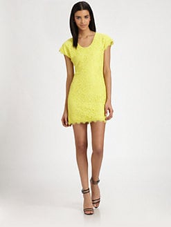 Diane von Furstenberg - Wanda Lace Mini Dress