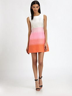 Diane von Furstenberg - Capreena Ombre-Stripe Dress