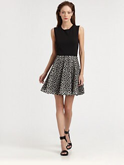 Diane von Furstenberg - Jeannie Leopard-Dot Dress