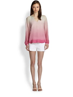 Diane von Furstenberg - Maiko Silk Chiffon Ombre-Print Top