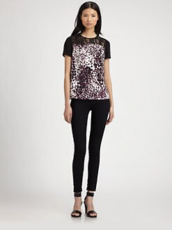 Diane von Furstenberg - Ainslee Lace-Trim Silk Top