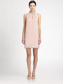 Diane von Furstenberg - Lainey Embellished Silk Dress