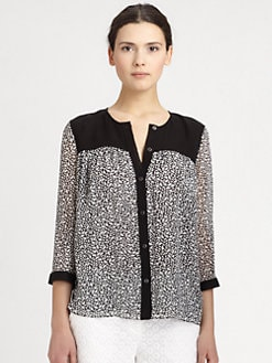 Diane von Furstenberg - Marcy Printed Silk Top
