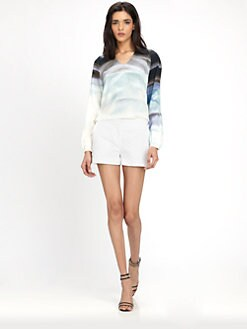 Diane von Furstenberg - Maiko Silk Ombre-Print Top