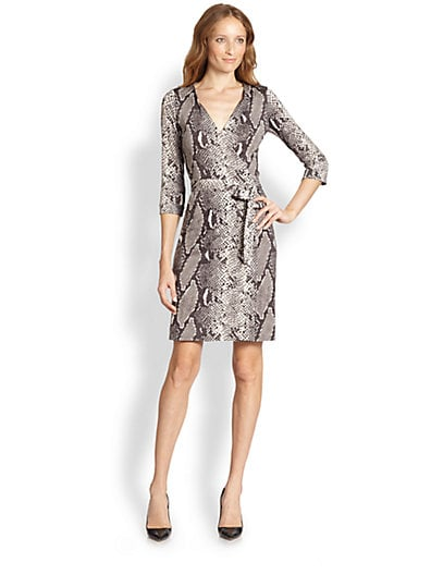 97a4b63842b02d New Julian Two Silk Jersey Wrap Dress Python Print - DIANE von ...