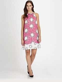 Diane von Furstenberg - Lainey Mixed-Print Silk Dress