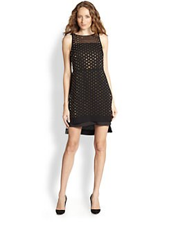 Diane von Furstenberg - Abrielle Embellished Silk Hi-Lo Dress