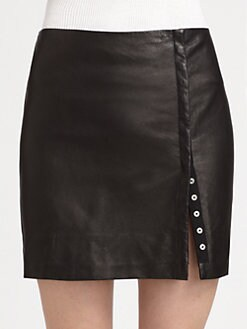 Diane von Furstenberg - Britt Leather Pencil Skirt