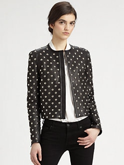 Diane von Furstenberg - Kate Studded Leather Jacket