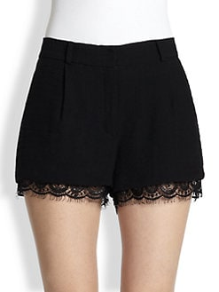 Diane von Furstenberg - Yara Lace-Trim Shorts