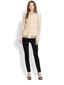 Diane von Furstenberg - Lysia Floral Chantilly Lace Top