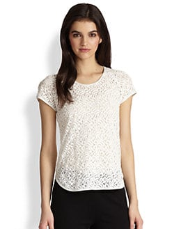Diane von Furstenberg - Liva Leaf Lace Top