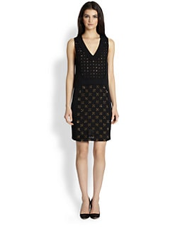 Diane von Furstenberg - Twiggy Hot Fix Embellished Silk Dress