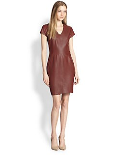 Diane von Furstenberg - Teala Leather Sheath Dress