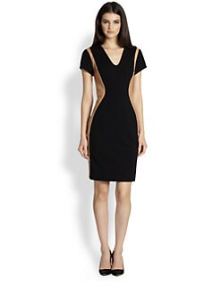 Diane von Furstenberg - Dayton Leather Combo Dress