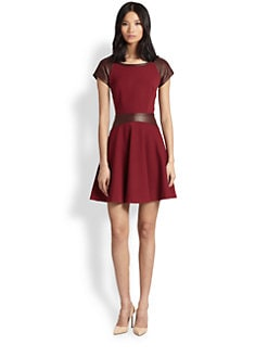 Diane von Furstenberg - Delyse Leather Combo Dress