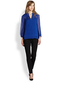 Diane von Furstenberg - Tanyana Silk Chiffon Blouse