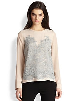 Diane von Furstenberg - Branwen Silk Lace Top