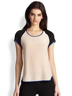 Diane von Furstenberg - Liva Stretch-Silk Tee