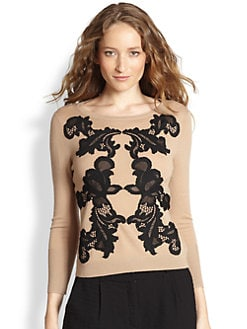 Diane von Furstenberg - Shara Wool & Lace Sweater