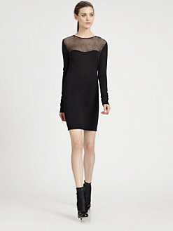 Diane von Furstenberg - Rosita Lace-Trim Sweaterdress
