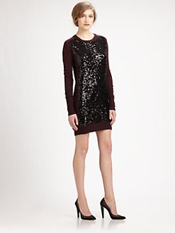 Diane von Furstenberg - Danette Sequin Sweater Dress