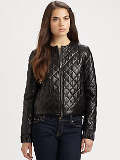 Diane von Furstenberg - Delilah Quilted Leather Jacket