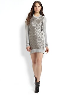 Diane von Furstenberg - Danette Sequined Sweater Dress