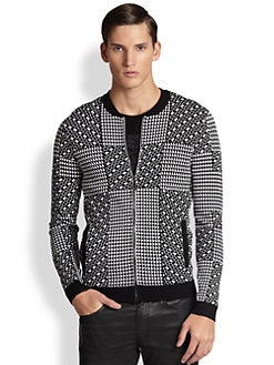 Versace Collection - Geometric Zip Sweater
