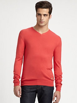 Versace Collection - Silk V-Neck Sweater